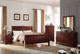 King Sleigh Bedroom Sets by Acme 23747ek Louis Philippe 4pcs Cherry King Sleigh Bedroom Set
