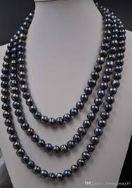 round freshwater pearl necklace images 2018 160cm 9 10mm black near round freshwater pearl necklace from jpg