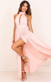 blush maxi dress twilight maxi dress in blush showpo