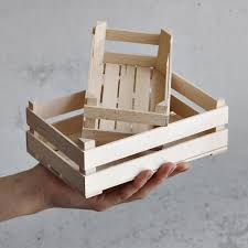 Sho Natur two wooden crates in 2 sizes mini slatted crates farmer s sho
