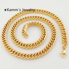 mens gold curb necklace images 600 8 mm fashion simple design gold color flat curb chain necklace jpg