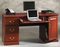 Sauder Computer Desk Cinnamon Cherry by Sauder Heritage Hill Classic Cherry Computer Credenza At Menards