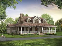 Wood House Plans by Cottage Style Single Story Home Exterior The House Designers