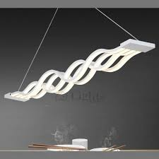 Led Pendant Lights Modern Hanging Wave Shaped Led Pendant Lighting
