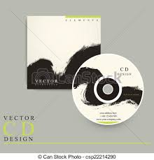 chinese calligraphy style cd cover design template eps vectors