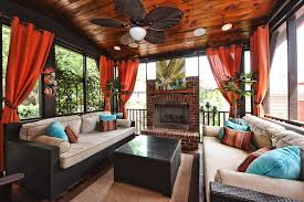Pergola Ceiling Fan Eclectic Living Room With Hardwood Floors U0026 Ceiling Fan In