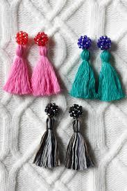 earrings diy diy tassel earrings homemadebanana