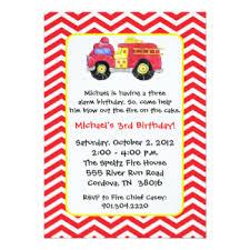 fire truck birthday invitations u0026 announcements zazzle