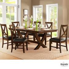 Costco Dining Table Bayside Furnishings Extending Dining Room Table 6 Chairs
