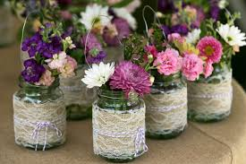 burlap wedding table center pieces trees n trends simple home