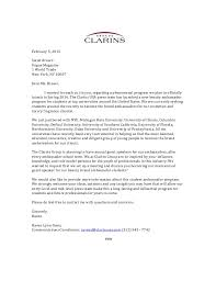 mock pitch letter clarins group