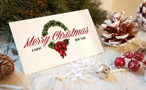 Christmas Invitation Cards Christmas New Year Card Mockup Product Mockups Creative Market