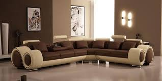 bonded leather sectional sofa vig furniture modern bonded leather sectional sofa brown and beige