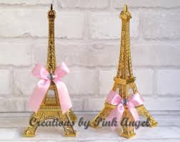 15 inch gold and pink eiffel tower centerpiece large paris