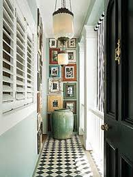 create drama at the end of a long narrow hallway interesting
