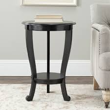 safavieh cape cod black pedestal side table free shipping today