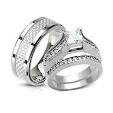 stainless steel wedding ring sets bridal sets stainless steel sears