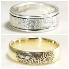 with wedding rings brent jess custom handmade fingerprint wedding rings