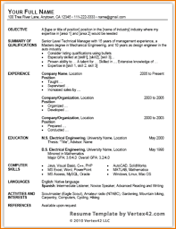 Proffesional Resume Template Traditional Resume Template Free Resume Template And