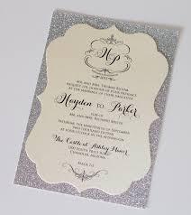 wedding invitations glitter hayden diecut frame glitter wedding invitation by