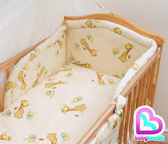 5 Piece Nursery Furniture Set by 5 Piece Baby Kids Bedding Set Duvet Cover Safety Bumper To Fit