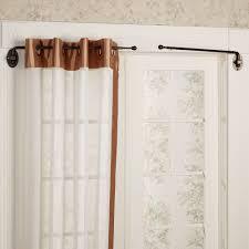 doorway curtain pole u0026 standard portiere door rod curtain poles