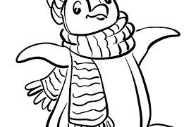 Penguin Coloring Pages For Toddlers Free Printable Kids Penquin Coloring Pages