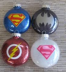 glitter ornamentstwo batman superman by thehappyhook