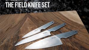 professional kitchen knives set the field knife set professional quality cing knives by