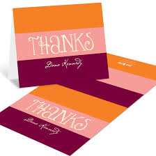 personalized thank you cards personalized note cards custom designs from pear tree