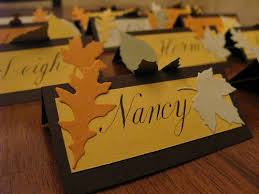 name place cards fall leaves thanksgiving theme f is for fall