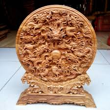 wood crafts mahogany wood carving craft ornaments fu