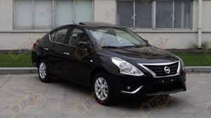 nissan sunny old model nissan sunny versa facelift caught undisguised