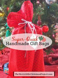 gift bags christmas handmade fabric gift bags tutorial the merry