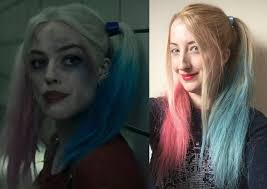 grey hair spray for halloween diy harley quinn u0027suicide squad u0027 hair in 7 simple steps for looks