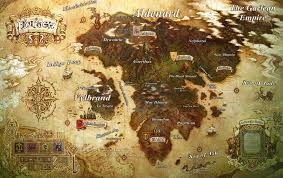 World Map Artwork by Eorzea Map Video Games Artwork