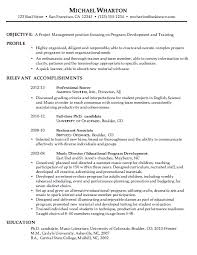 Project Management Resume Samples by Exclusive Idea Chronological Resume Example 16 Sample For Project