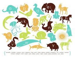 modern animal alphabet poster by mdmobiles alphabet poster