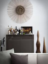 home bar decoration furniture simple artistic home bar decor using sunburst wall art
