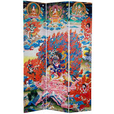 Canvas Room Divider 6 Ft Printed 3 Panel Room Divider Can Tib 1 The Home Depot