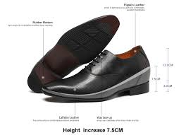 Comfortable Dress Shoes For Men 3 Inches Elevator Shoes Height Shoes For Men Black Elevator Mens