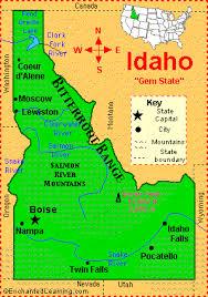 map of idaho cities idaho facts map and state symbols enchantedlearning com