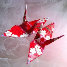 peace crane bird wedding cake topper party favor origami