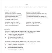 Mba Skills Resume Master Of Business Administration Resume Template U2013 8 Free Word