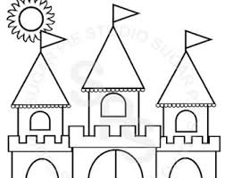 castle coloring etsy