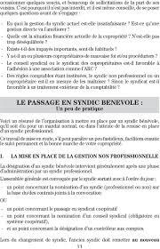 chambre syndicale des syndics de copropriété les premiers pas du syndic benevole pdf