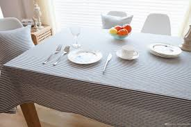 Coffee Table Cover by Japan And South Korea Stripe Contracted The Tablecloth Linen
