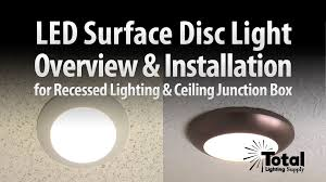 j box led lights sylvania ultra led disc light overview installation by total