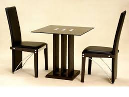 small table and 2 chairs small square glass dining table and 2 chairs in black homegenies
