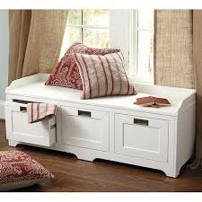 White Bench With Storage Storage Bench In White